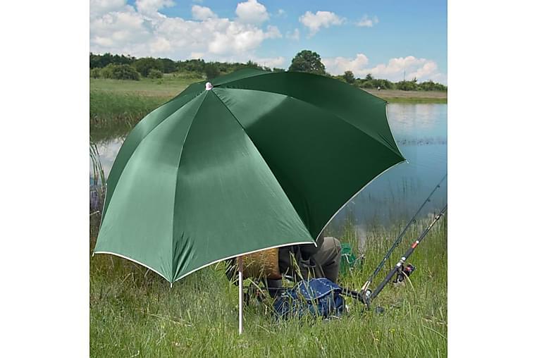 HI Fiskeparaply grønn UV30 200 cm - Hagemøbler - Solbeskyttelse - Parasoller