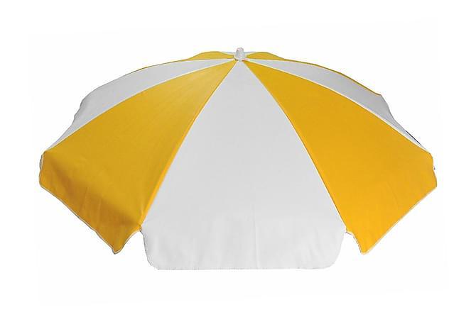Parasoll 180 cm - Gulhvit - Hagemøbler - Solbeskyttelse - Parasoller