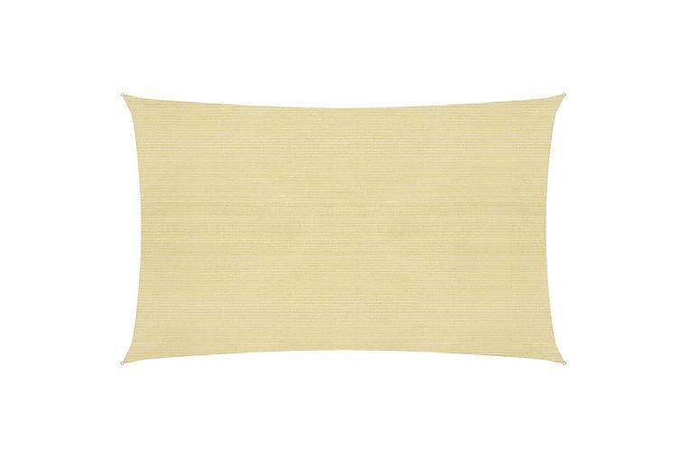 Solseil 160 g/m² beige 2x4,5 m HDPE - Beige - Hagemøbler - Solbeskyttelse - Solseil