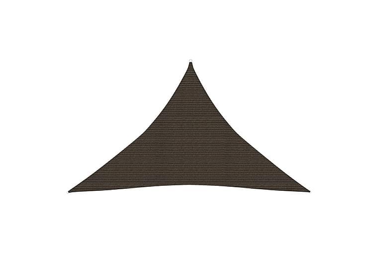 Solseil 160 g/m² brun 5x5x6 m HDPE - Brun - Hagemøbler - Solbeskyttelse - Solseil