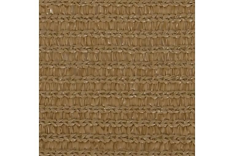 Solseil 160 g/m² gråbrun 3x3x4,2 m HDPE - Taupe - Hagemøbler - Solbeskyttelse - Solseil