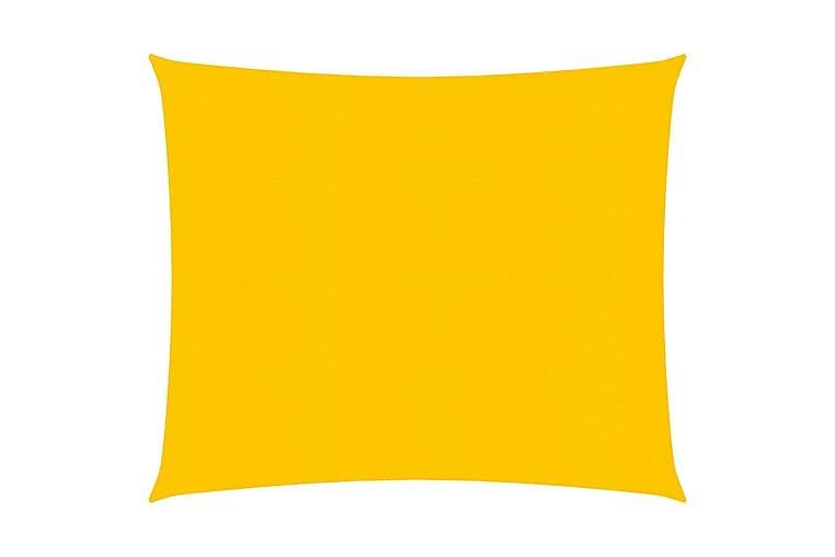 Solseil 160 g/m² gul 2,5x2,5 m HDPE - Gul - Hagemøbler - Solbeskyttelse - Solseil
