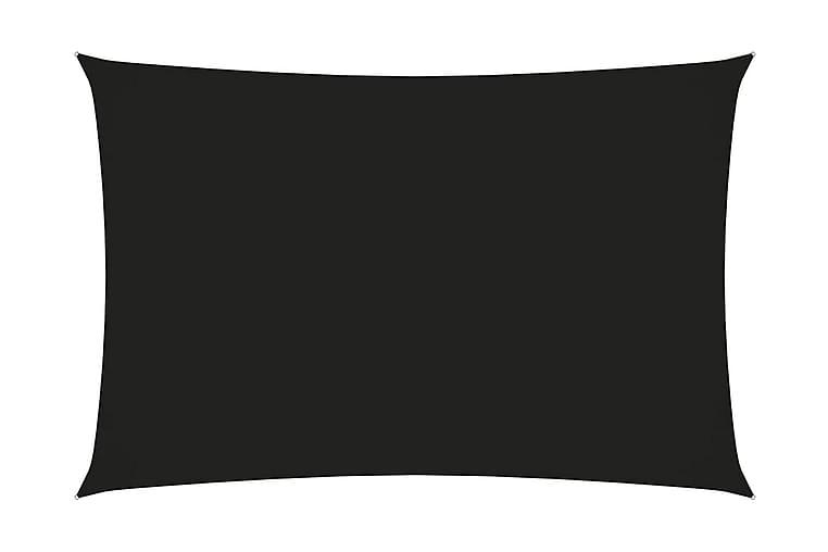Solseil oxfordstoff rektangulær 2x4 m svart - Svart - Hagemøbler - Solbeskyttelse - Solseil