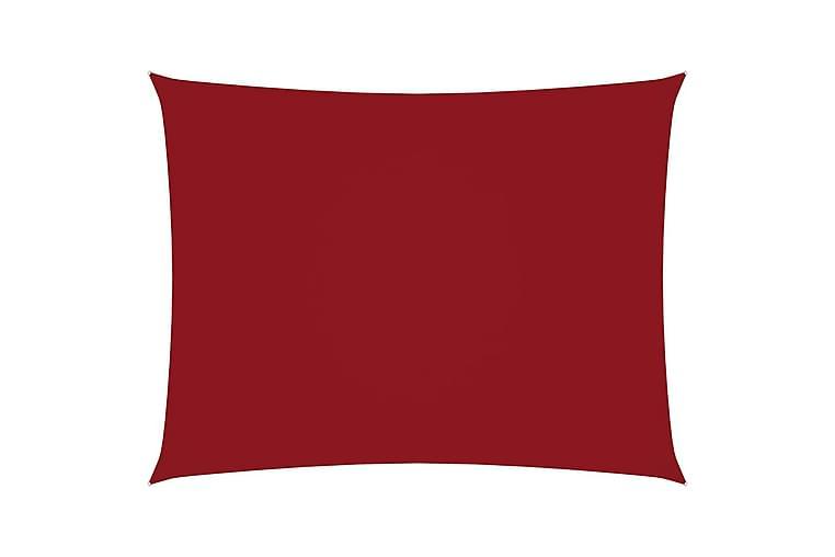 Solseil oxfordstoff rektangulær 5x6 m rød - Rød - Hagemøbler - Solbeskyttelse - Solseil
