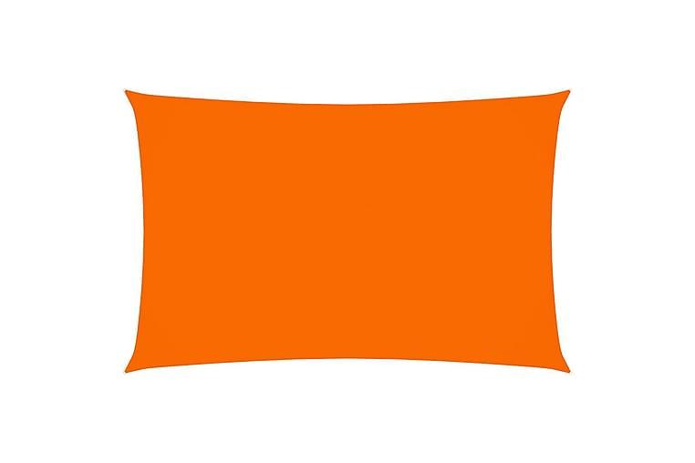 Solseil oxfordstoff rektangulær 5x8 m oransje - Oransj - Hagemøbler - Solbeskyttelse - Solseil