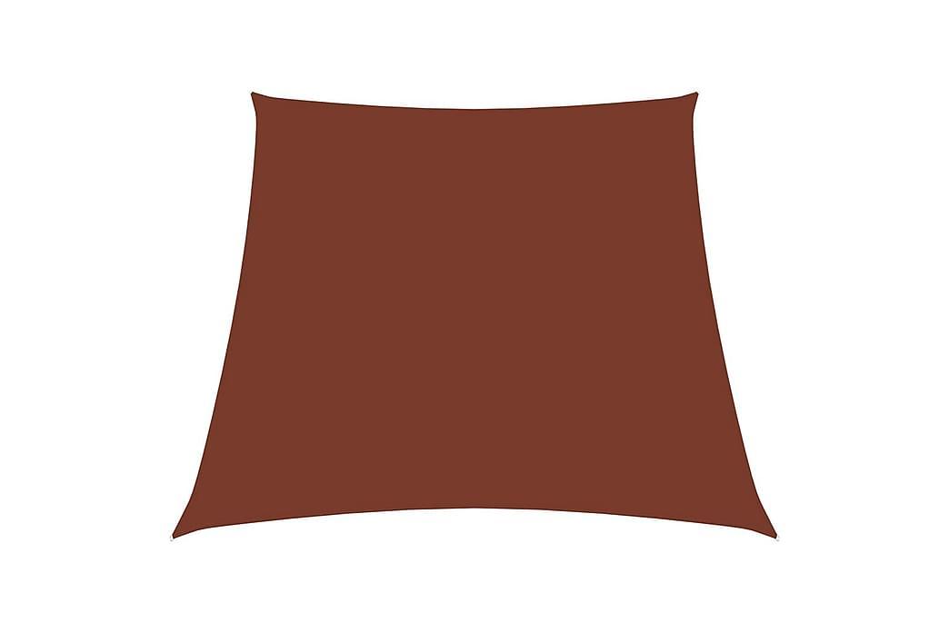 Solseil oxfordstoff trapesformet 3/4x3 m terrakotta - Hagemøbler - Solbeskyttelse - Solseil