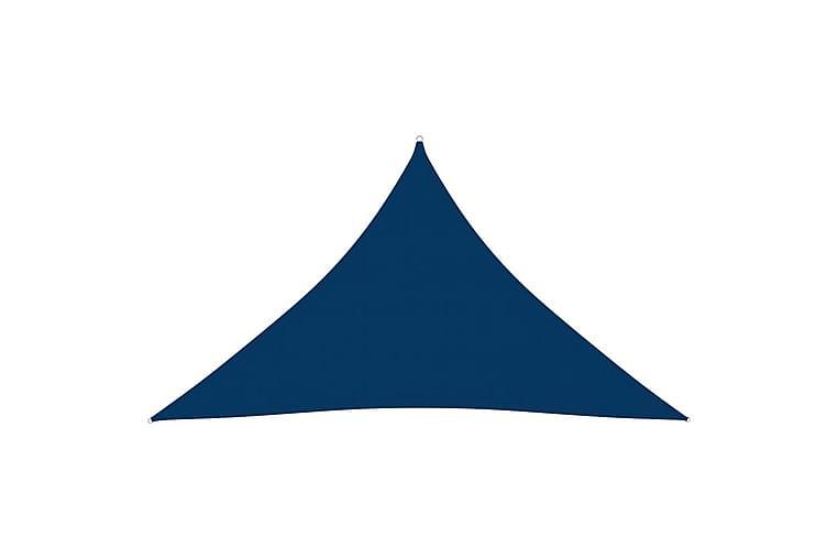 Solseil oxfordstoff trekantet 2,5x2,5x3,5 m blå - Blå - Hagemøbler - Solbeskyttelse - Solseil