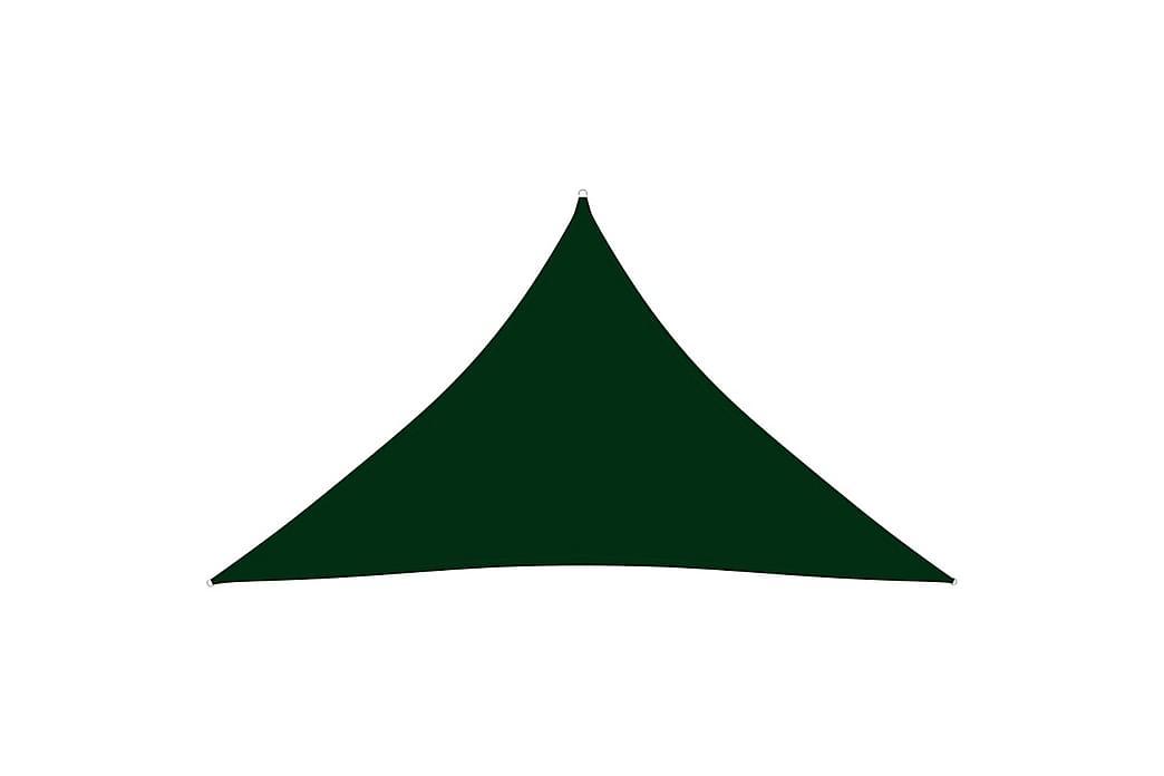 Solseil oxfordstoff trekantet 5x5x6 m mørkegrønn - grønn - Hagemøbler - Solbeskyttelse - Solseil