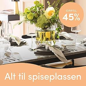 Alt til spiseplassen- Opptil 45%