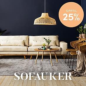 Sofauker- Opptil 25%