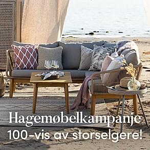 Hagemøbelkampanje  - 100-vis av storselgere!