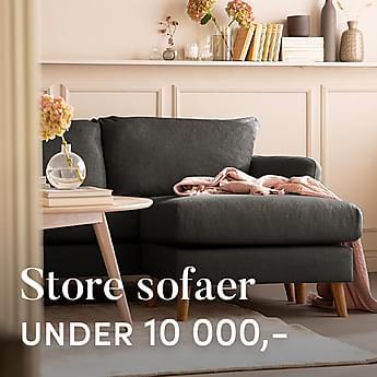 Store & komfortable sofaer under 10 000,-
