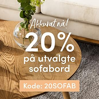 20% på utvalgte sofabord