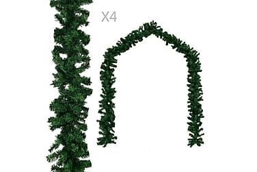 Julegarland 4 stk grønn 270 cm PVC