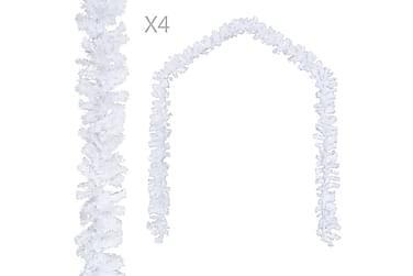 Julegarland 4 stk hvit 270 cm PVC
