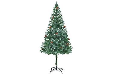Kunstig juletre med kongler 180 cm