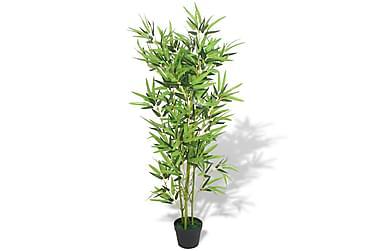 Kunstig bambus med potte 120 cm grønn