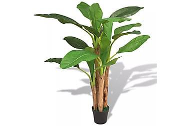 Kunstig banantre med potte 175 cm grønn
