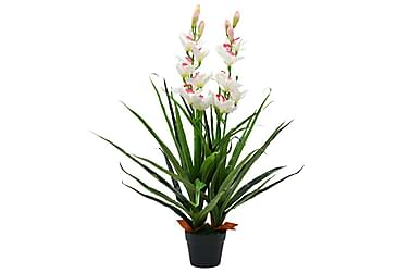 Kunstig cymbidium orkide med potte 100 cm grønn