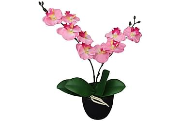 Kunstig orkidè med potte 30 cm rosa