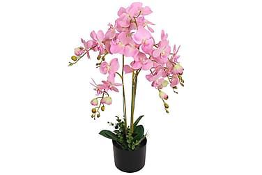 Kunstig orkidè med potte 75 cm rosa