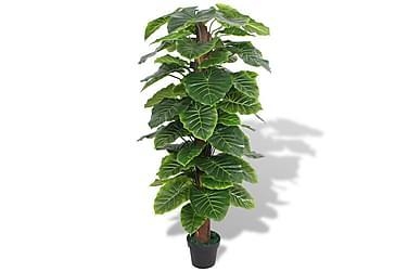 Kunstig taroplante med potte 145 cm grønn