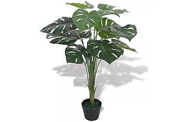 Kunstig vindusblad med potte 70 cm grønn