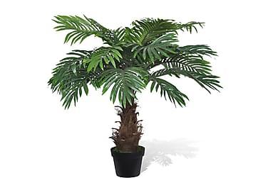 Livaktige kunstig palmetre med potte 80 cm