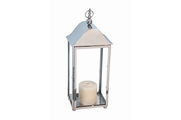 Lyslykt 33x82 cm Sølv - AG Home & Light - Innredning - Dekorasjon - Lysestaker og lykter