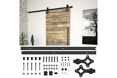 Utstyr for skyvedør 183 cm stål svart