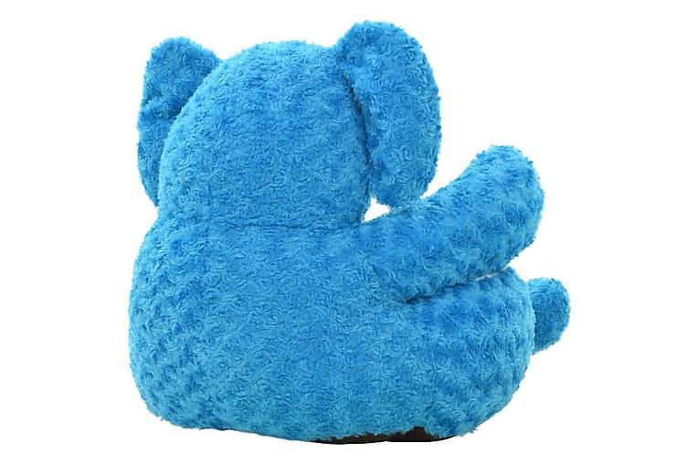 Lekeelefant i plysj blå - Innredning - Innredning til barnerom - Dekorasjon til barnerom