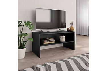 TV-benk svart 80x40x40 cm sponplate