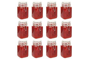 Glasskrukker med lås 12 stk 260 ml