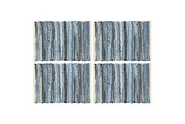 Bordmatter 4 stk Chindi denimblå 30x45 cm bomull