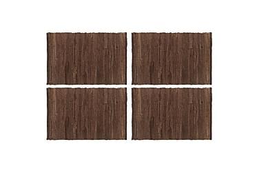 Bordmatter 4 stk Chindi ren brun 30x45 cm bomull
