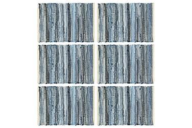 Bordmatter 6 stk Chindi denimblå 30x45 cm bomull