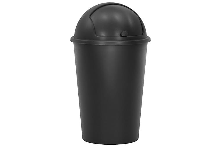 Enkelt söppelbötte svart 50 L - Svart - Innredning - Kjøkkenutstyr - Søppelbøtte & papirkurv