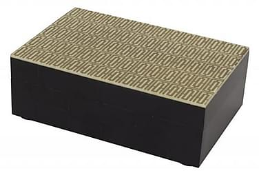 Box Nuvola 4x6 cm Gull/Svart/Tre