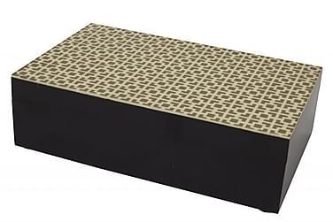 Box Nuvola 6x10 cm Gull/Svart/Tre