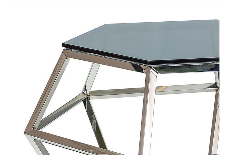 Sidebord Bingara 48 cm Hexagon - Glass/Sølv - Innredning - Små møbler - Brettbord og småbord