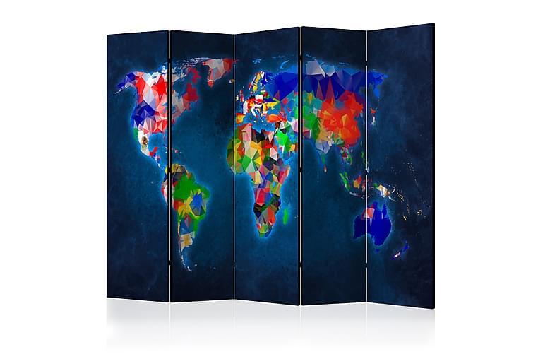 Romdeler Colorful Map 225x172 - Flerfarget - Innredning - Små møbler - Romdelere