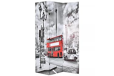 Romdeler 120x180 cm London buss svart og hvit