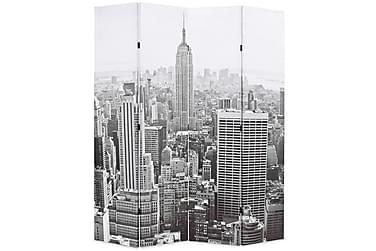Romdeler 160x180 cm New York dagtid svart og hvit
