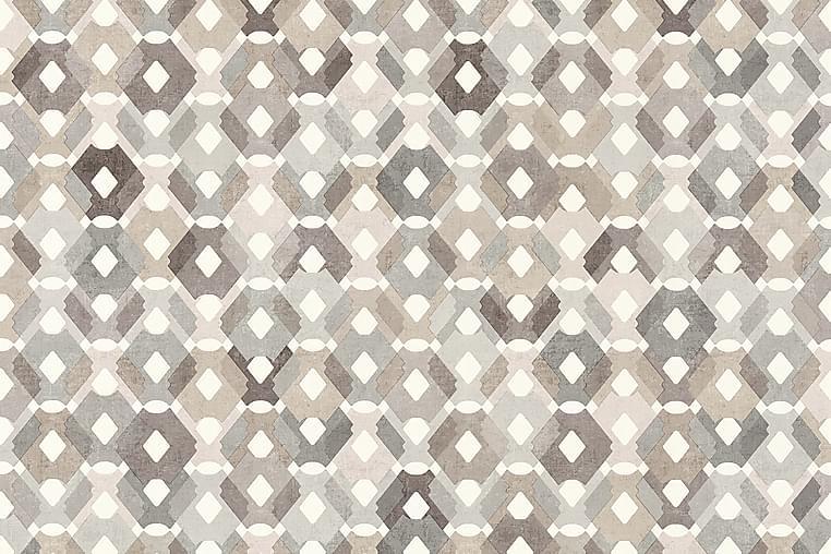 Grafisk Tapet Colibri Uvevd Brun Beige - AS Creation - Innredning - Tapeter - Mønstret tapet