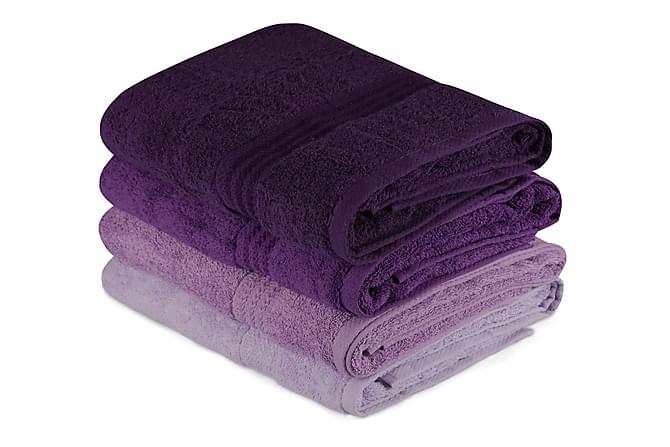 Badehåndkle Hobby 70x140 cm 2-pk - Lilla - Innredning - Tekstiler - Baderomstekstiler
