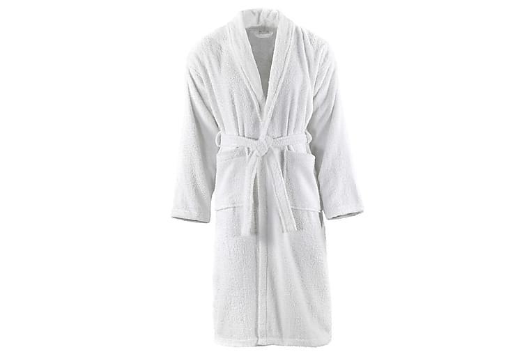 Badekåpe unisex 100% bomullsfrotté hvit XL - Innredning - Tekstiler - Baderomstekstiler