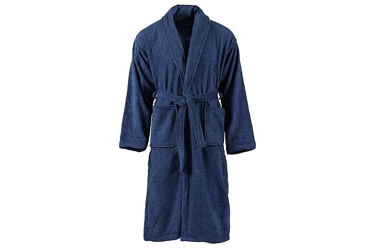Badekåpe unisex 100% bomullsfrotté marineblå M - Innredning - Tekstiler - Baderomstekstiler
