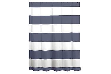 Dusjforheng Stripet Hvit/Blå