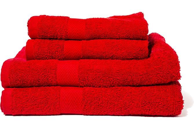 Frottehåndkle Queen Anne 50x30 cm - Rød - Innredning - Tekstiler - Baderomstekstiler