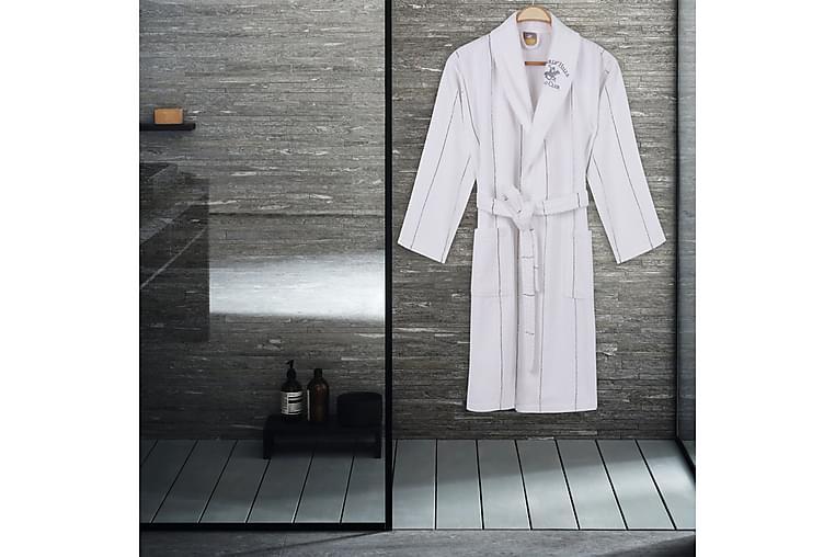 Morgenkåpe Beverly Hills Polo Club S/M - Hvit|Grå - Innredning - Tekstiler - Baderomstekstiler